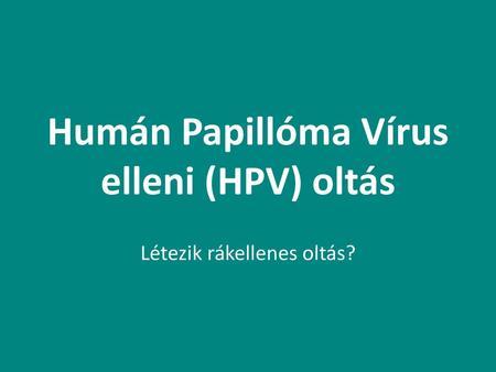 humán papilloma vírusok ppt