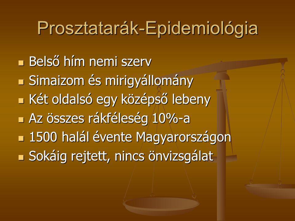 prosztatarák epidemiológia