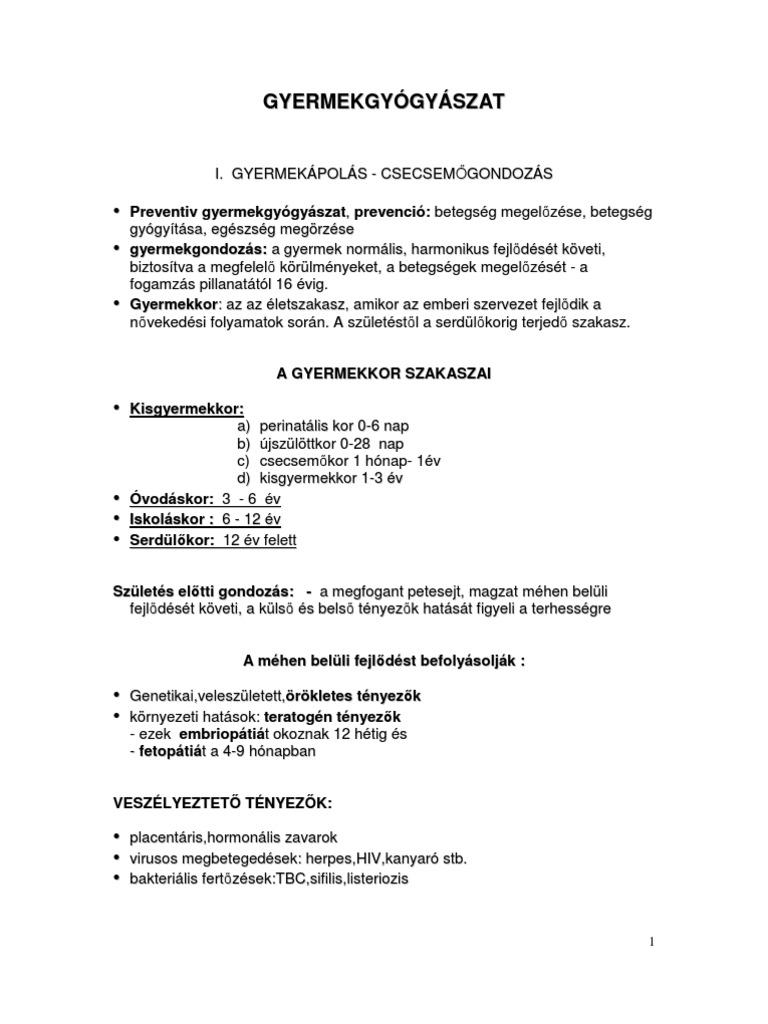 Gyermek helminthiasis kezelése. Betegségek régi neveinek listája